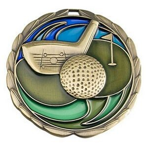 "Antique Golf Color Epoxy Medallion (2-1/2"")"