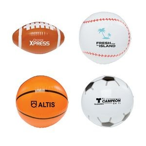 "16"" Sport Beach Balls - Football, Basketball, Baseball, Soccer"