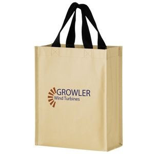 "Non-Woven Hybrid Tote with Paper Exterior (9 1/4""x4 1/2""x11 1/2"") - Screen Print"