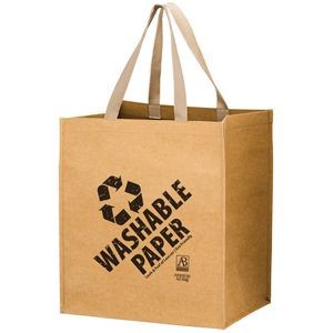 "TYPHOON - Washable Kraft Paper Grocery Tote Bag w/ Web Handle (13""x10""x15"") - SP"