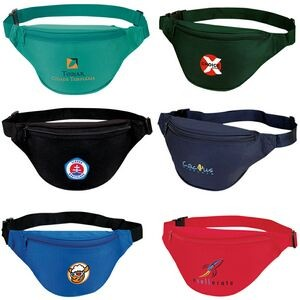 "Two Zippered Polyester Fanny Pack (12""x6""x3"")"