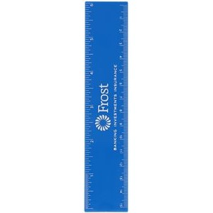 "6"" Ruler with 1 Color Imprint"