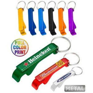 Aluminum Beer Bottle Opener Full Color Keychain
