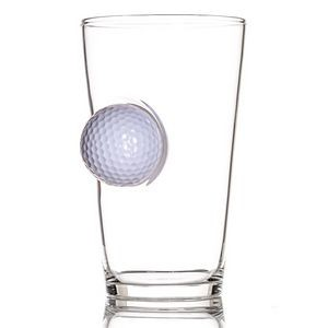 Pint Glass - Golf Ball - White