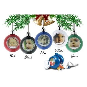 "Pastic Water Dome Ornaments with Snow & Glitters (1-15/16"" Picture)"