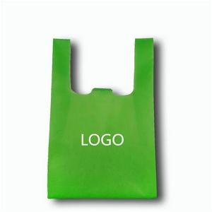 Non-Woven Reusable T-shirt Style Grocery Tote Bags