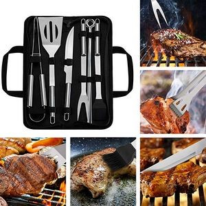9 Pieces BBQ Grill Tool Set
