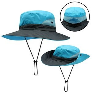 Wide Brim Sun Fishing Cap Bucket Hat