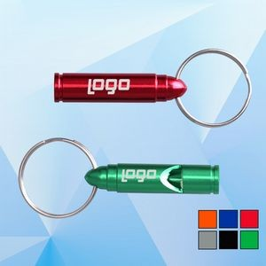 Bullet Shaped Whistle with Key Ring