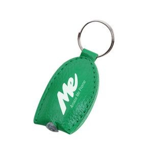 LED Light PU Leather Key Tag/Yellow Light