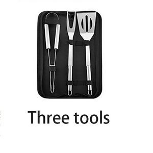 3 Piece BBQ Set with Stainless Steel Tools
