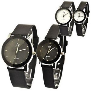 Quartz Watch Fashion Couple Wristwatch for Lovers W/Silicone Band