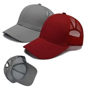 Mesh Back Cap / Ponytail Trucker Hat