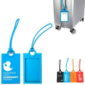 Rectangle Silicone Luggage Tag
