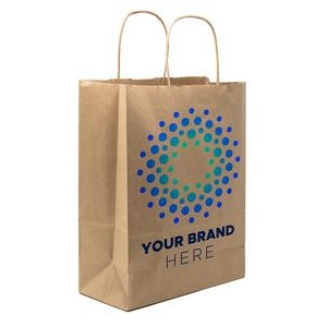 "10"" x 13"" x 5"" Full Color Kraft Paper Bag Shoppers"