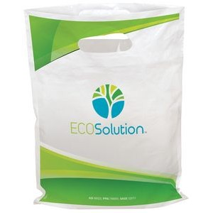 "EcoSolution Digital Full Color Die Cut Plastic Bags (7½""x9"")"