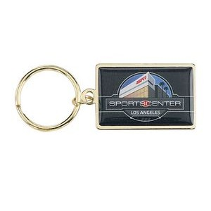 USA Printed Rush Photo Rectangle Keychain