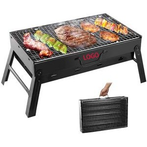 Folding Portable Stainless Steel Barbecue Charcoal Grill