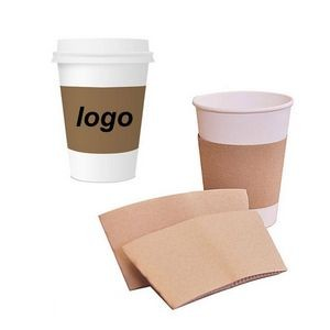 Custom Kraft Paper Coffee Cup Sleeves