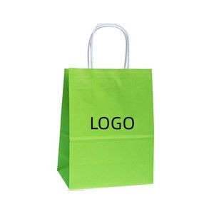 Rush Service Stock Kraft Paper Bag With Handles