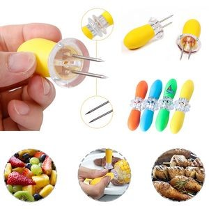 Corn Holders With Silicon Handle For Home Cooking and BBQ
