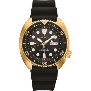 Mens Automatic Gold Case Black Dial