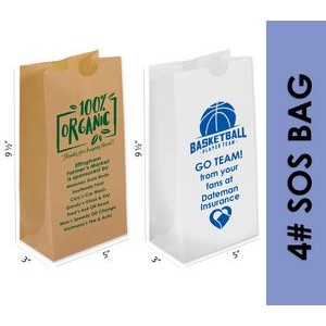 White Popcorn (SOS) Bag With One Color Printing