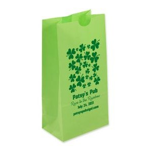 Green Popcorn (SOS) Bag With One Color Printing