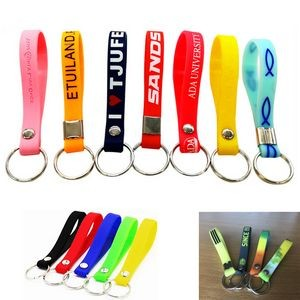 Silicone Keychain With Metal Ring