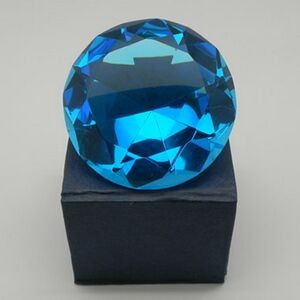 Crystal Diamond Paper Weight-80 mm (Screen printed)