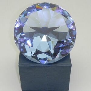 Crystal Diamond Paper Weight-100 mm (Laser Engraving)