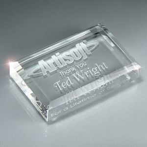 Optic Crystal Business Card Paperweight