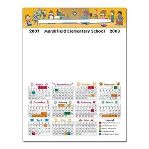"School Memo Board - 8.5""x11"" Laminated - 14 Point"