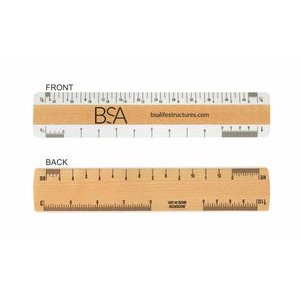 "Double Bevel Architectural Ruler / A Scale Group (6"")"