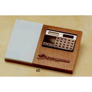 "5""x7-1/5"" Walnut Calculator Base With 3""x5""/2""x3""/3""x3"" Post-it Notes (4d)"