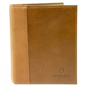 "Councilman Sr. Top Grain Leather 3"" Ring Binder w/ Horizontal Pocket"