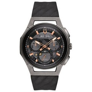Bulova Watches Mens Strap - Black