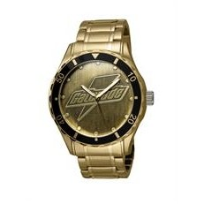Selco Geneve Men's Canvas Medallion Gold Watch