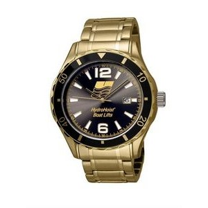 Selco Geneve Canvas Men's Gold Watch