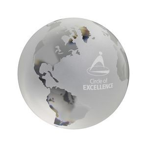 "3"" Frosted World Globe Paperweight"