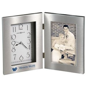 Howard Miller Lewiston Hinged Metal Clock/ Picture Frame
