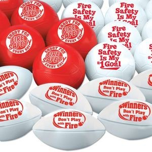 Fire Safety Mini Sports Balls 30-Piece Assortment Pack