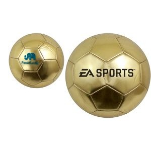 Gold Trophy Soccer Ball - Mini and Official Sizes