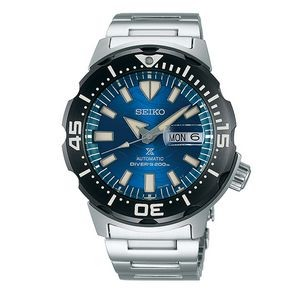 Seiko Prospex SRPE09 Men Diver Watch - Silver & Blue
