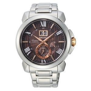 Seiko SNP157 Premier Kinetic Men Watch - Brown