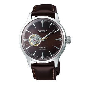 Seiko Presage SSA407 Men Automatic Open Heart Watch - Brown