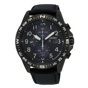 Seiko SSC707 Solar Men Diver Watch - Black