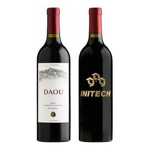 750Ml Daou Cabernet Wine Deep Etched w/1 Color Fill