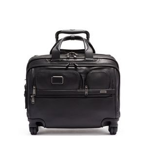 Tumi Alpha 3 Deluxe 4 Wheeled Leather Laptop Briefcase