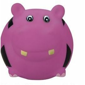 Rubber Soccer Ball Shaped Hippo Dog Toy©